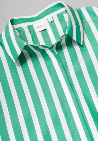 WITHOUT SLEEVES BLOUSE 1863 BY ETERNA - PREMIUM GREEN/WHITE STRIPED