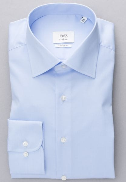 ETERNA LONG SLEEVE SHIRT COMFORT FIT TWILL LIGHT BLUE UNI