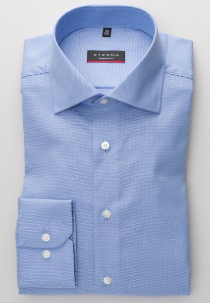 ETERNA LONG SLEEVE SHIRT MODERN FIT FANCY WEAVE LIGHTBLUE STRUCTURED