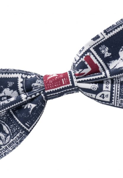 ETERNA BOW TIE BLUE/RED PRINTED