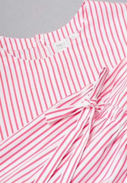 LONG SLEEVE BLOUSE 1863 BY ETERNA - PREMIUM RED/WHITE STRIPED