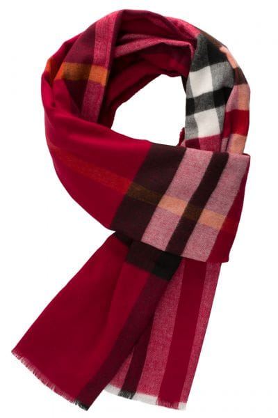 ETERNA SCARF RED / BEIGE CHECKED