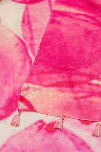 ETERNA SCARF PINK PATTERNED