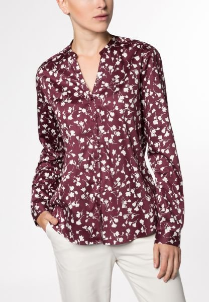 ETERNA LONG SLEEVE BLOUSE MODERN CLASSIC RED PRINTED