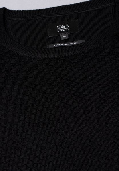 ETERNA KNIT SWEATER WITH ROUND NECK BLACK UNI