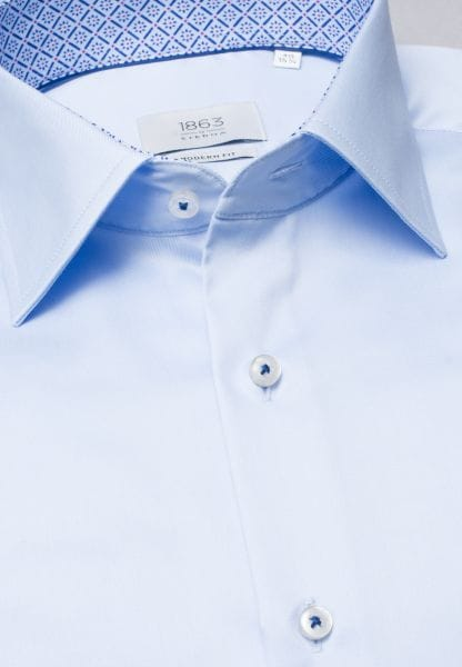 ETERNA LONG SLEEVE SHIRT MODERN FIT TWILL LIGHT BLUE UNI