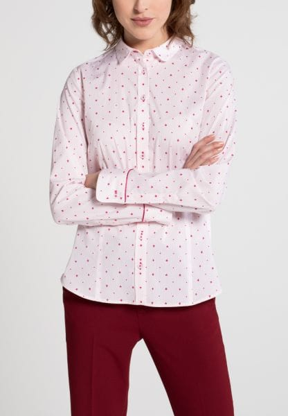 ETERNA LONG SLEEVE BLOUSE SLIM FIT PINK PRINTED