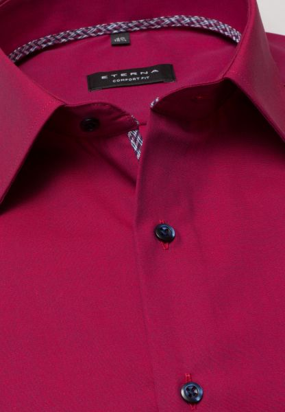 ETERNA LONG SLEEVE SHIRT COMFORT FIT FIL À FIL RED UNI