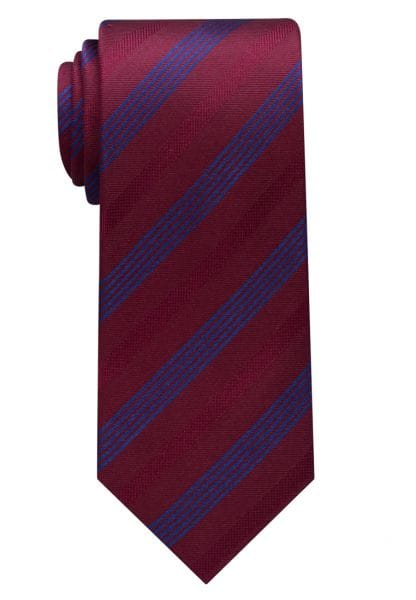 ETERNA TIE WINE RED / BLUE STRIPED