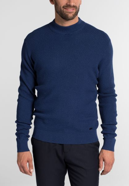 ETERNA KNIT SWEATER MODERN FIT WITH ROUND NECK NAVY BLUE UNI