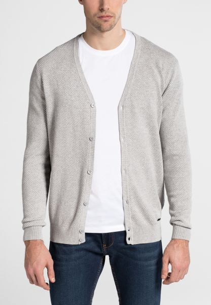 ETERNA KNIT CARDIGAN SILVER GRAY UNI