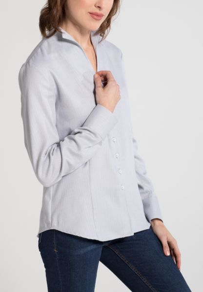 ETERNA LONG SLEEVE BLOUSE MODERN CLASSIC FLANELL GREY UNI