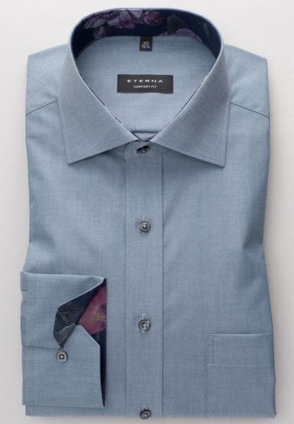 ETERNA LONG SLEEVE SHIRT COMFORT FIT CHAMBRAY DARK GREY UNI
