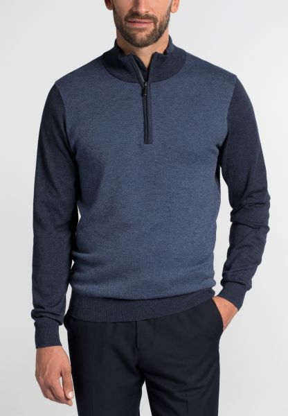 ETERNA KNIT TROYER MODERN FIT NAVY BLUE UNI