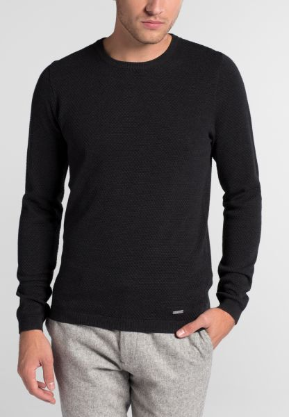 ETERNA KNIT SWEATER SLIM FIT WITH ROUND NECK GRAY UNI