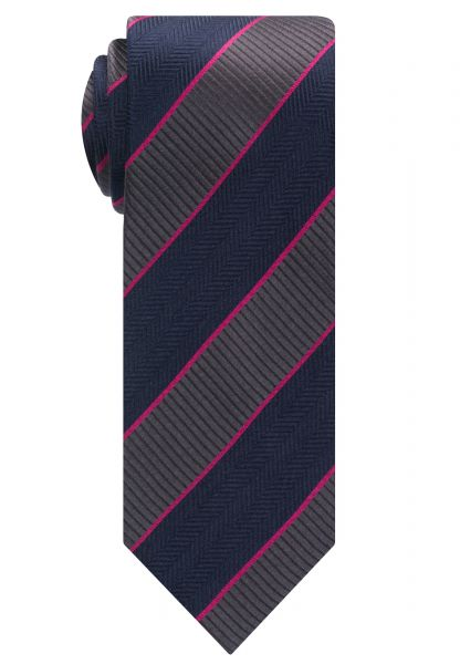 ETERNA TIE NAVY/GREY STRIPED