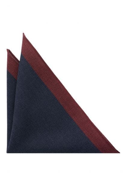 ETERNA POCKET SQUARE BLUE / ORANGE UNI