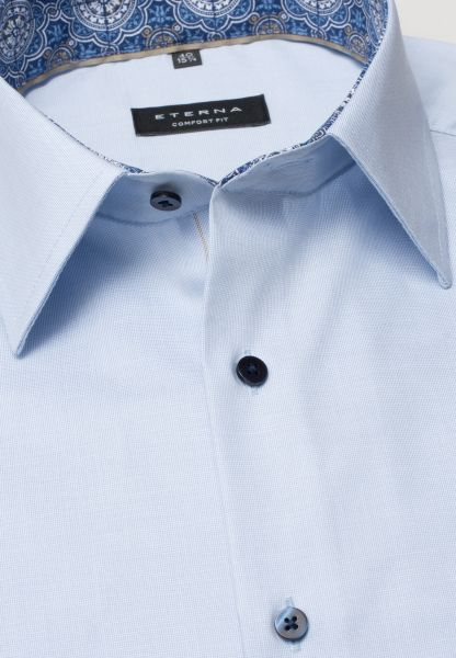 ETERNA HALF SLEEVE SHIRT COMFORT FIT PINPOINT LIGHT BLUE UNI