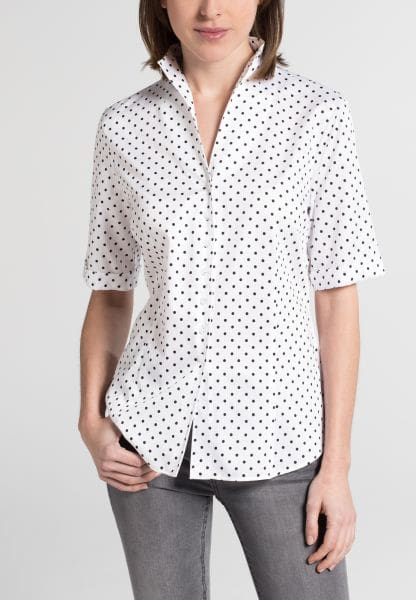 ETERNA HALF SLEEVE BLOUSE MODERN CLASSIC BLACK/WHITE PRINTED