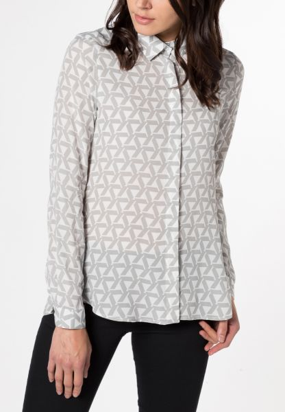 LONG SLEEVE BLOUSE 1863 BY ETERNA - PREMIUM GREY PRINTED