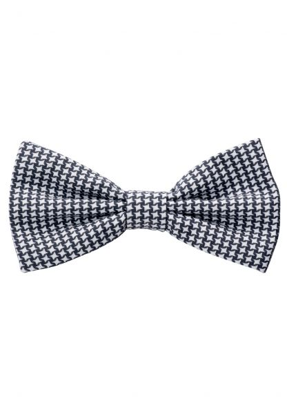ETERNA BOW TIE GRAPHITE / WHITE PATTERNED
