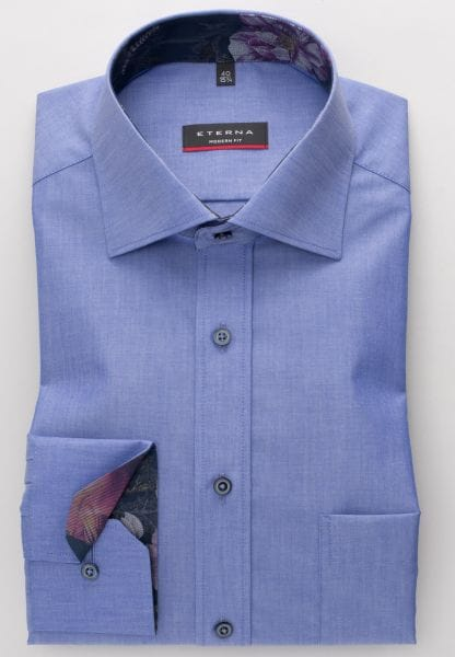 ETERNA LONG SLEEVE SHIRT MODERN FIT CHAMBRAY BLUE UNI