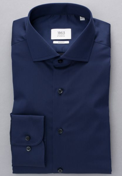 ETERNA LONG SLEEVE SHIRT SLIM FIT GENTLE SHIRT TWILL NAVY BLUE UNI