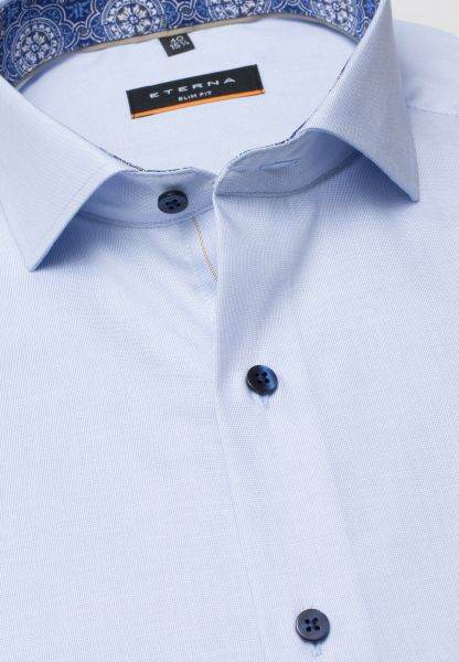 ETERNA LONG SLEEVE SHIRT SLIM FIT PINPOINT LIGHT BLUE UNI