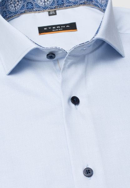 ETERNA HALF SLEEVE SHIRT SLIM FIT PINPOINT LIGHT BLUE UNI